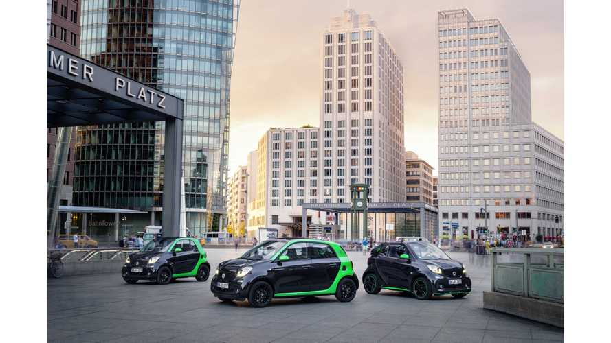 Smart Electric Drive ForTwo & ForFour At The Paris Motor Show