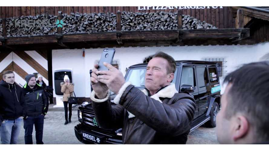 Arnold Schwarzenegger Shows Off His Custom Electric Mercedes-Benz G-Class