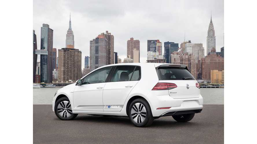 VW e-Golf Was #1 Selling BEV In Western Europe In January