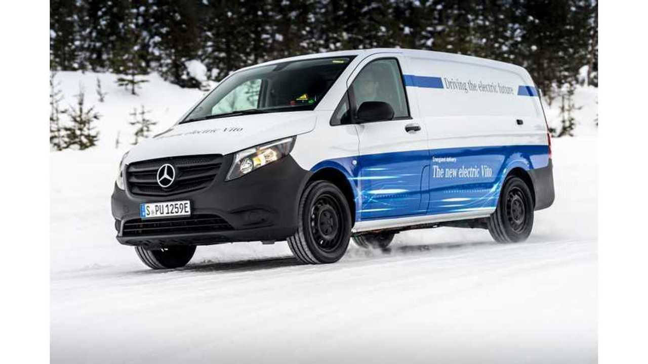Winter trials Mercedes-Benz eVito in Sweden.