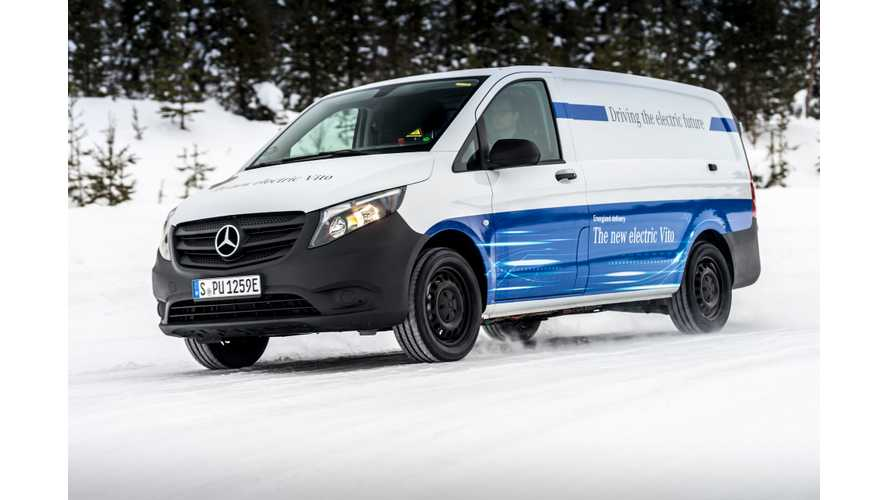 Mercedes eVito Electric Vans Have No Issues In -30 Degree Winter Trials
