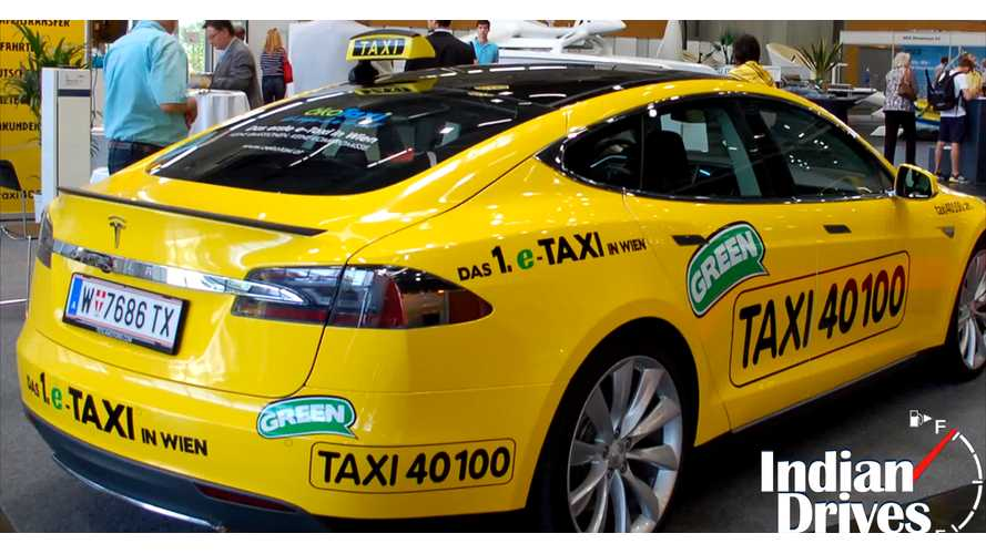 Vienna Gets Fleet Of 20 Tesla Model S Taxis - Video