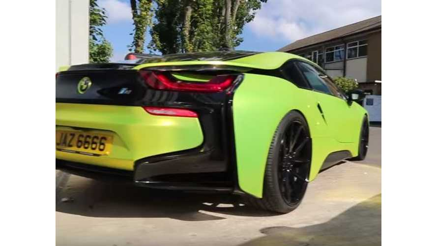BMW i8 Wrapped In Satin Chrome Yellow - Video