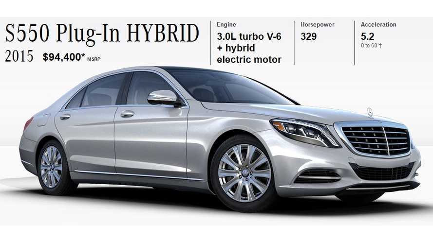 Mercedes-Benz S550 Plug-In Hybrid Priced At $95,325