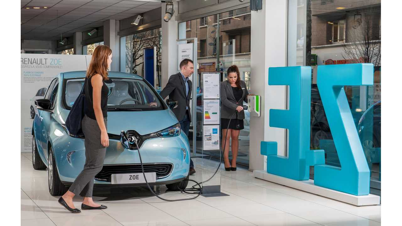 Renault ZOE, the best-selling full-electric car in Europe in 2015