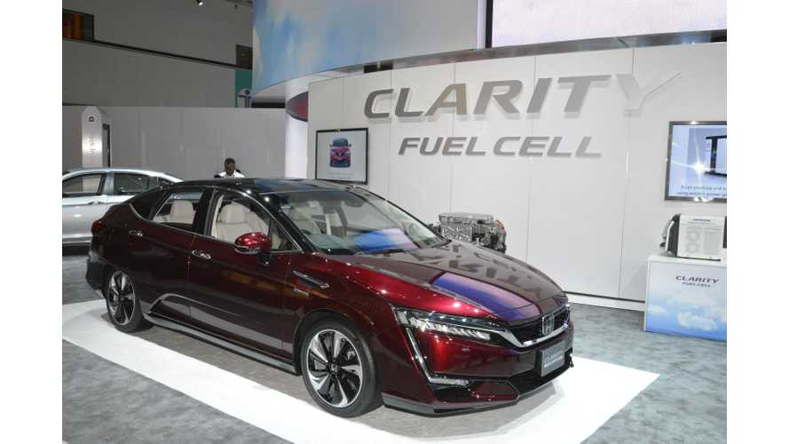 "Honda Clarity Fuel Cell To Lease For ""Under $500"" Per Month In U.S."