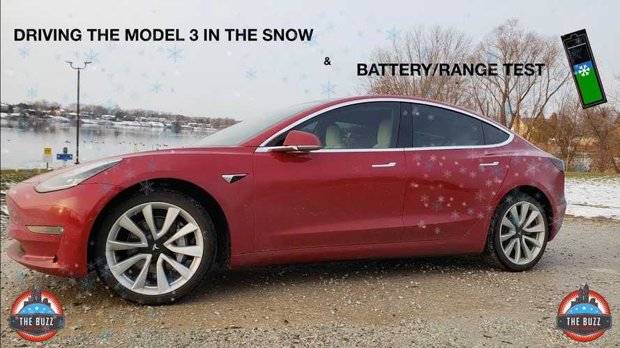 Tesla Model 3 Real-World Winter Driving And Range Test: Videos