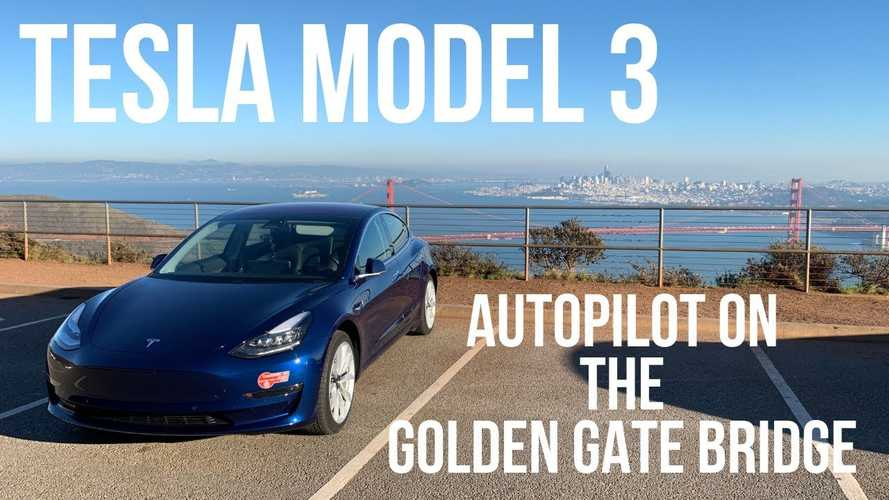 Tesla Model 3 Autopilot Versus The Golden Gate Bridge: Video