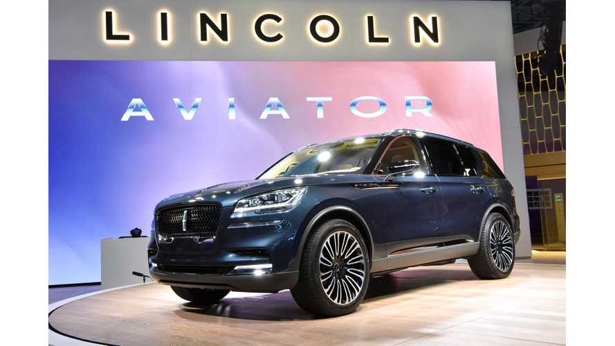 Lincoln Confirms 2019 Launch Of Aviator PHEV, Will Look Like Concept