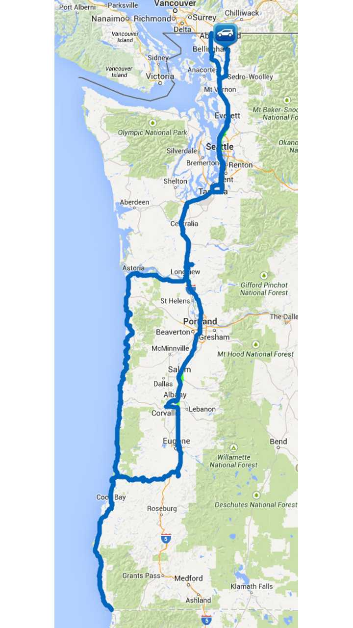Our Actual Route