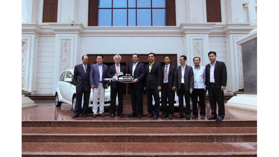 Mitsubishi Donates 2 i-MiEVs To Government Of Laos