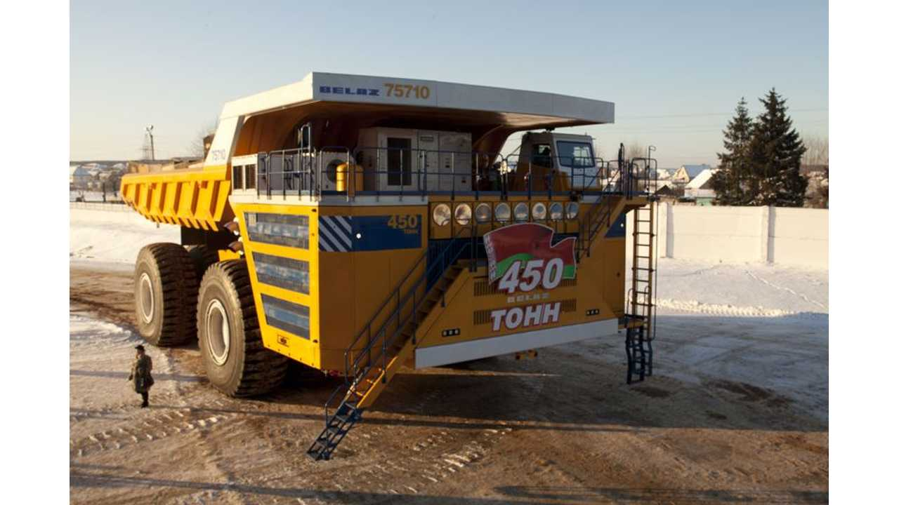 World's Largest Truck Is Powered By 4 Siemens 1,200 kW Electric Motors