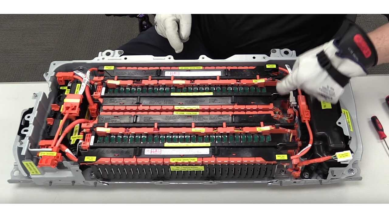 High Voltage Hybrid Electrical Systems - 2017 Toyota Prius Li-Ion Battery (source: Weber State University)