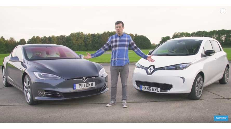 Tesla Model S Versus ... The Renault ZOE?  (Video)