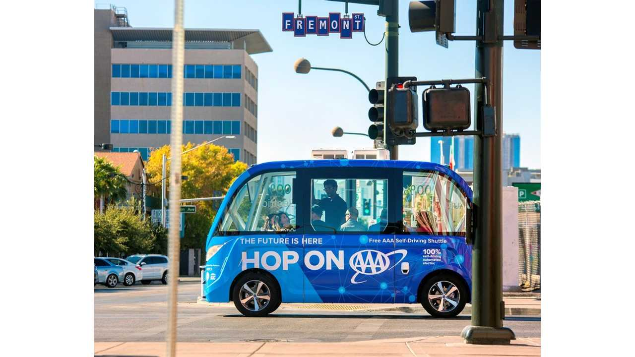 AAA And Keolis Launch Nation's First Public Self-Driving NAVYA Arma Shuttle In Downtown Las Vegas