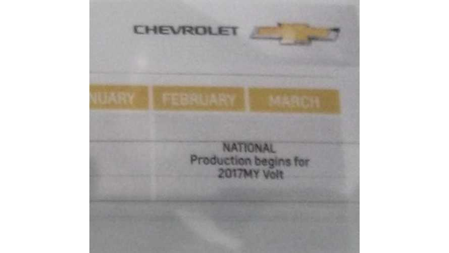 UPDATE: Nationwide Launch Of Next-Generation Chevrolet Volt Delayed Until Early Or Mid 2016