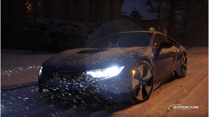 BMW i8 in the snow