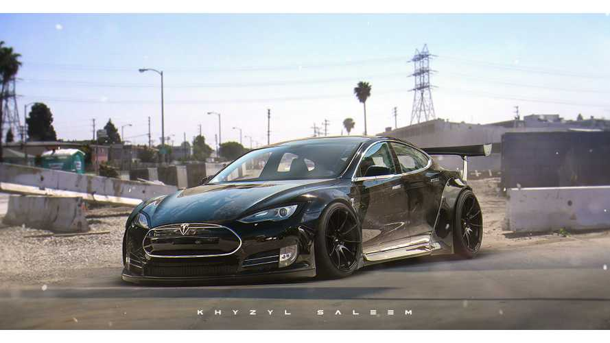 Menacing Tesla Model S Rendering