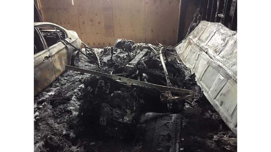 BMW i3 Melts Away In House / Garage Fire Started By Fireworks