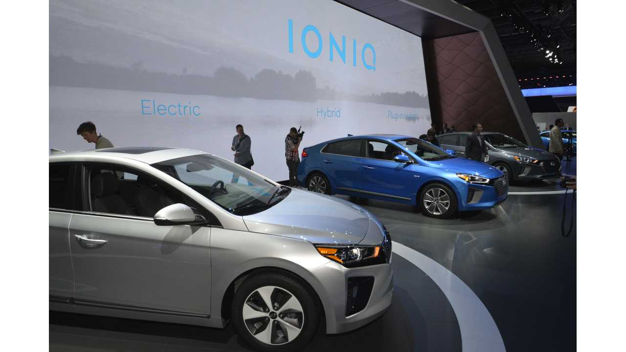 Plug-In Hyundai IONIQs Hit Stage In New York