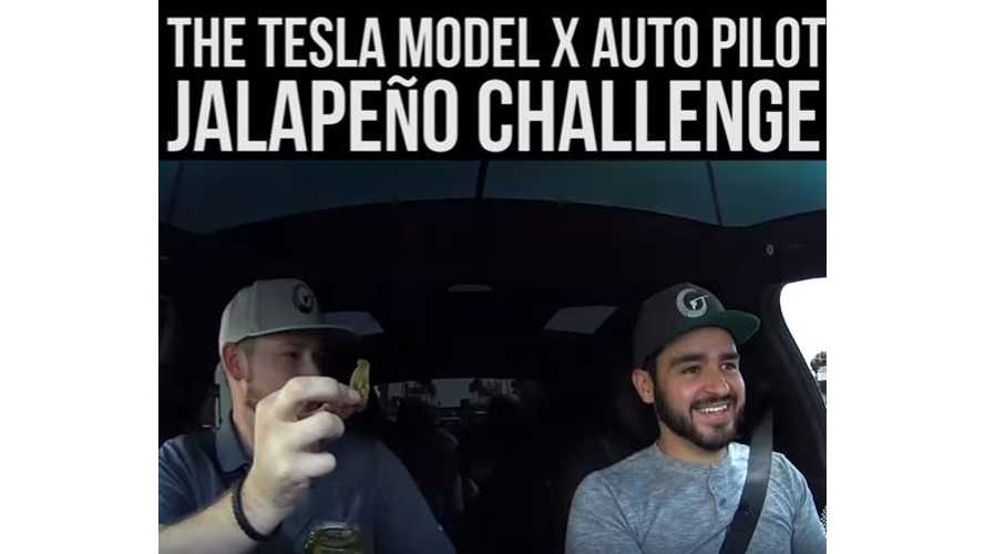 Tesla Model X Autopilot Jalapeno Challenge - Video
