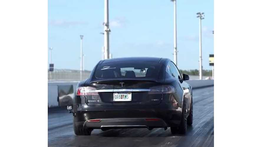 Mashable Takes Tesla Model S P85D To Drag Strip - Video