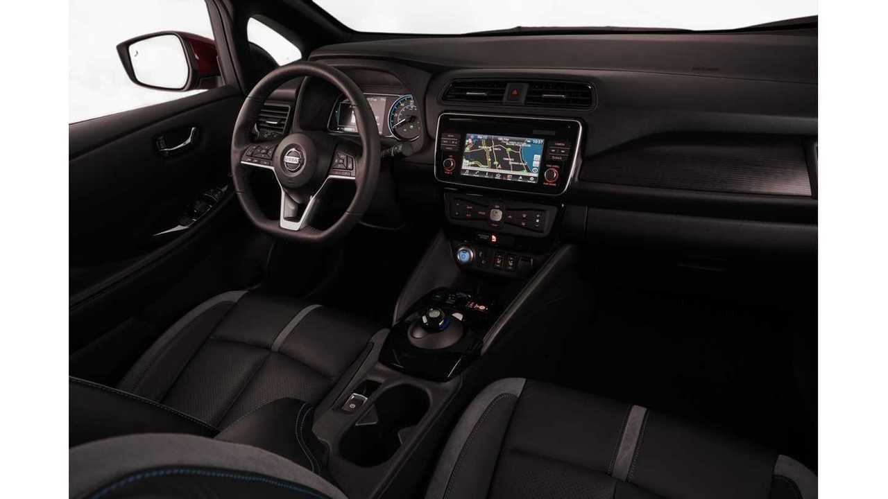 Intérieur de la Nissan LEAF 2018