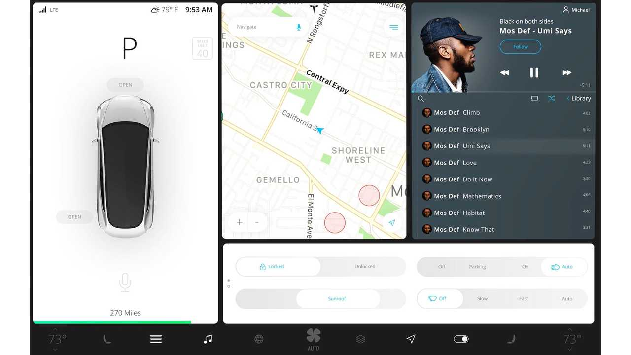 Tesla Model 3 User Interface With Gesture Controls? - Video