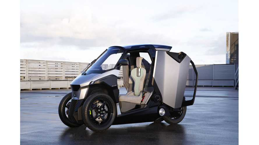 Meet The PSA-Designed Plug-In Hybrid Electric 3-Wheeler