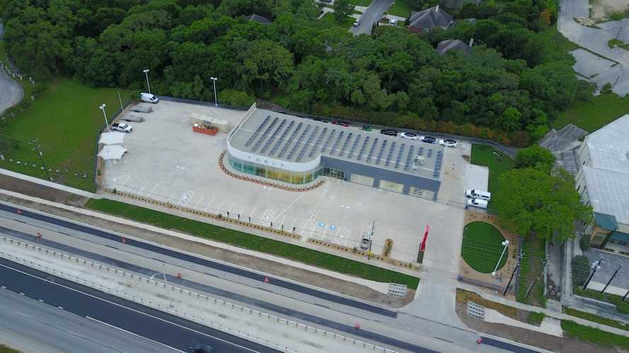 Drone Image Of Tesla's San Antonio Service Center Reveals Solar Roof