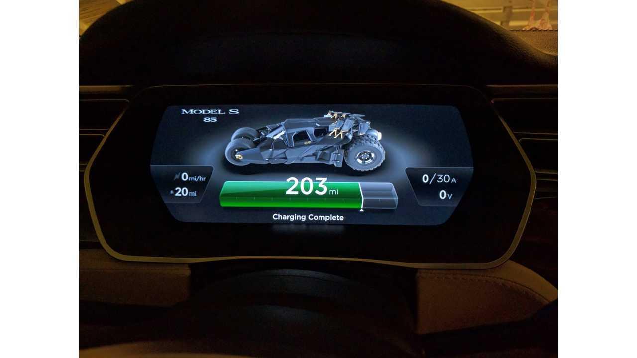 Hacked Tesla Model S Displays Batmobile