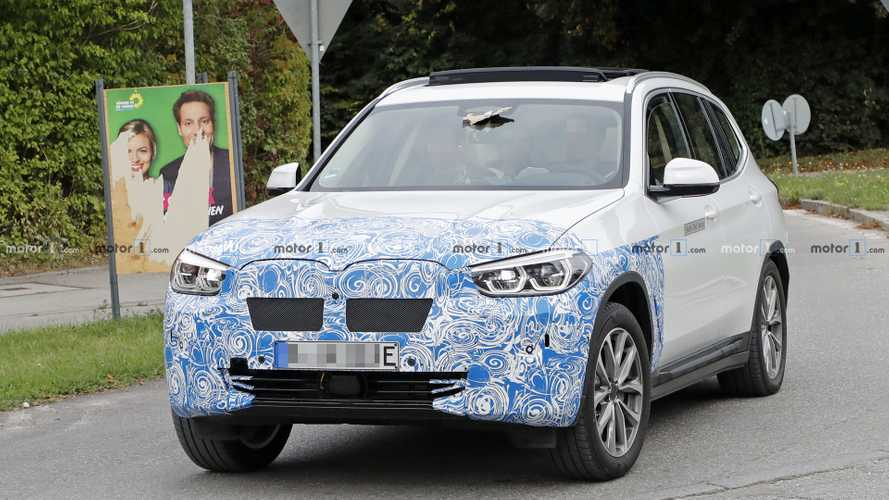 BMW iX3 Electric Spied With Proper EV Front Fascia