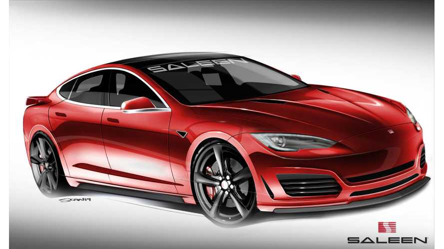 Saleen Tesla Model S Named FourSixteen - Debut Set For This Sunday
