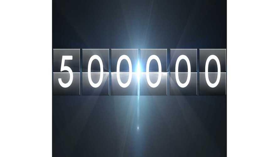 Global Plug-In Electric Vehicle Sales Surpass 500,000