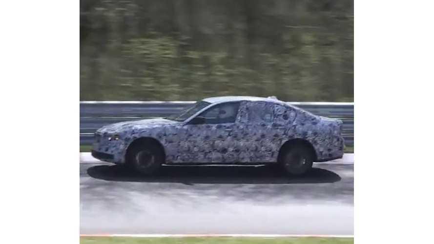 2017 BMW 5 Series Plug-In Hybrid Testing At Nurburgring - Video