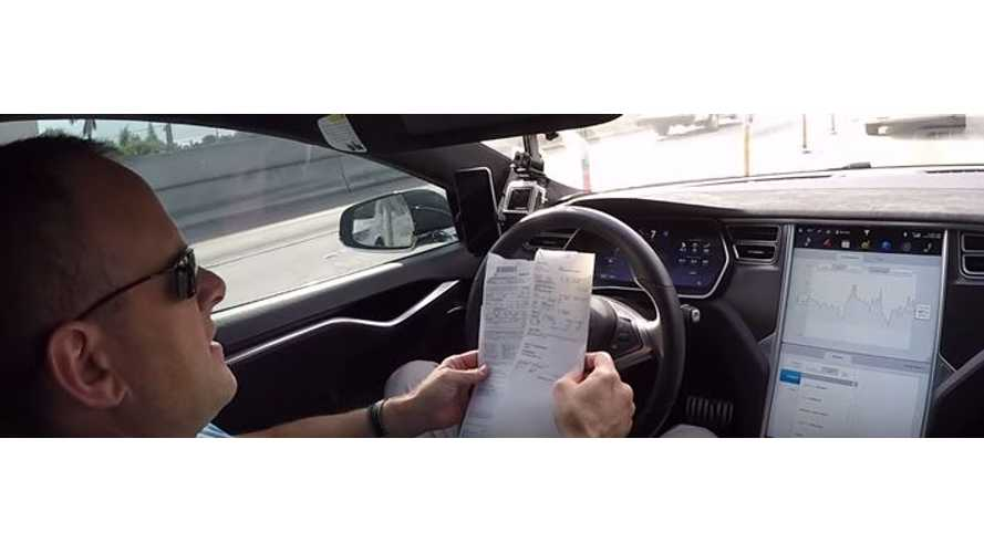 DragTimes Gets Pulled Over As Autopiloted Tesla Model S Goes 15 MPH Over The Limit - Video
