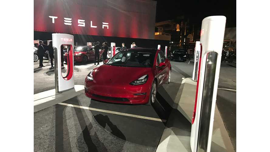 Tesla Launches Base Model 3: Here's The Price