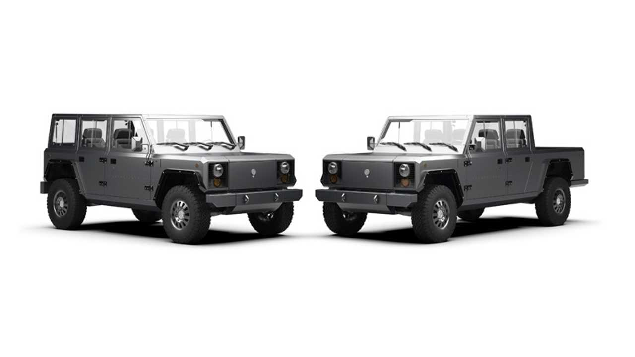 B1 & B2 Pickup Trucks From Bollinger Get Military Spec Components
