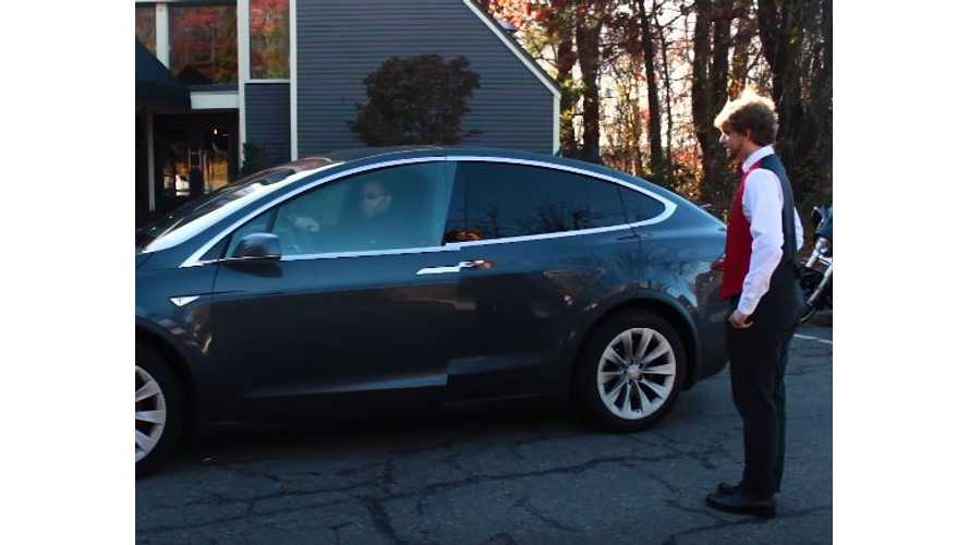 Tesla Model X Valet Mode Demonstration - Video