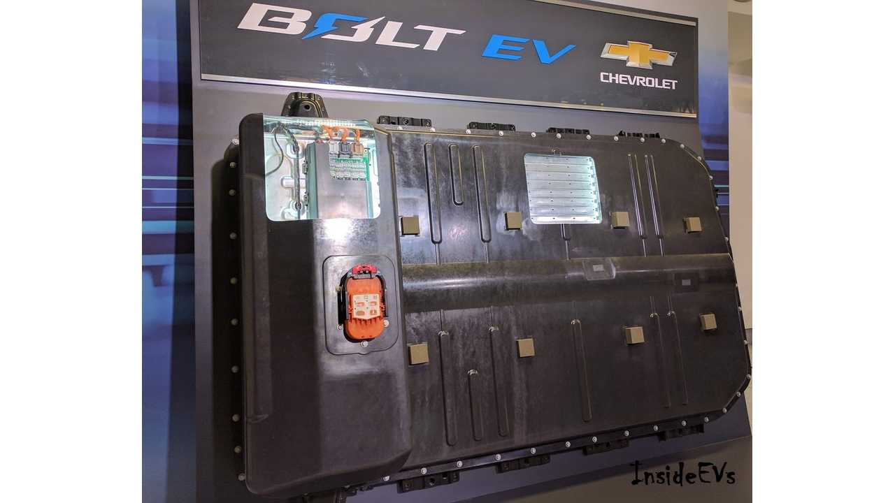 A shot of the Bolt EV's battery pack from a pre-release test drive we attended in California (InsideEVs/George B)