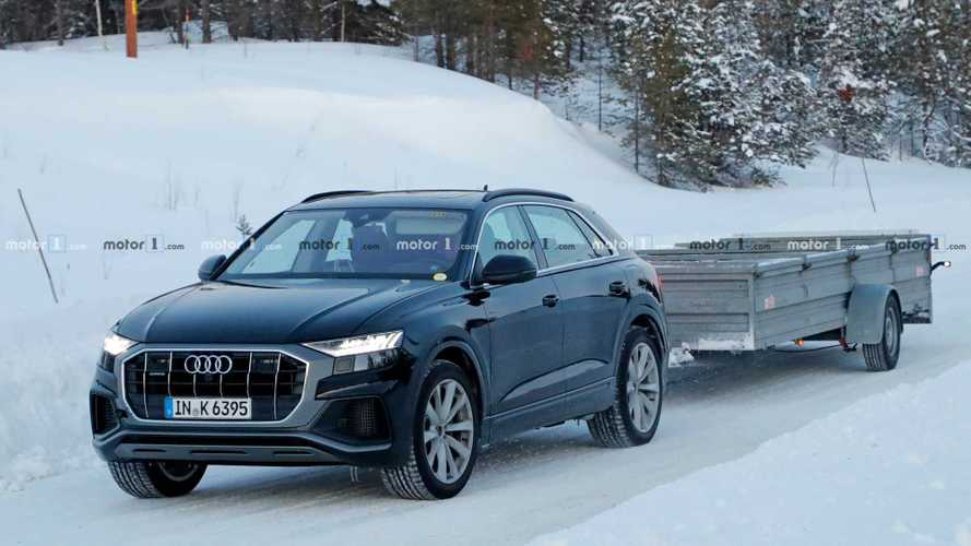 Audi Q8 Plug-In Hybrid Spied Testing Without Camo