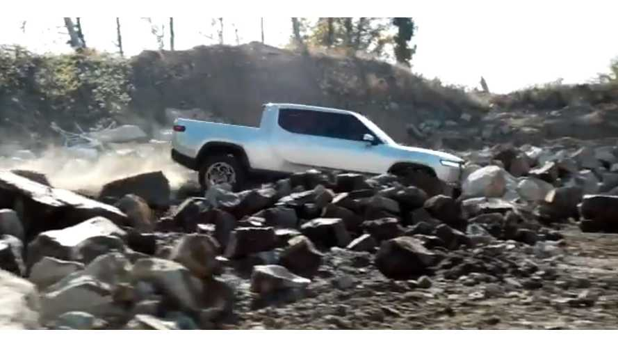 Rivian R1T Electric Pickup Truck Shows Rugged Abilities In New Video