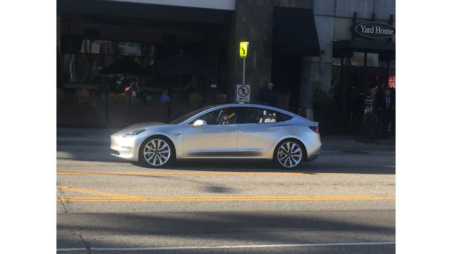 Tesla Model 3 Spotted In The Wild - Images + Video