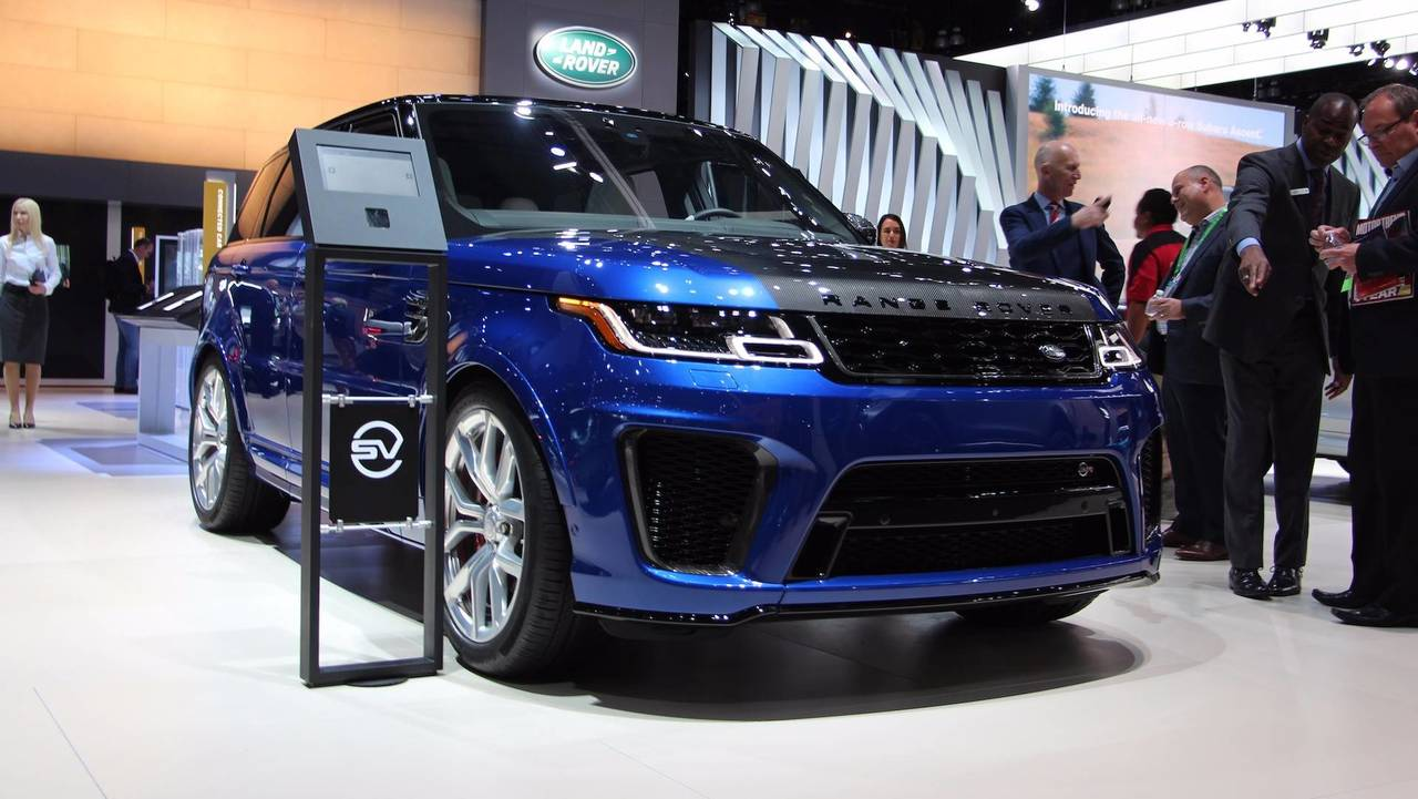 2019 range rover sport debuts plug in hybrid more powerful svr. Black Bedroom Furniture Sets. Home Design Ideas