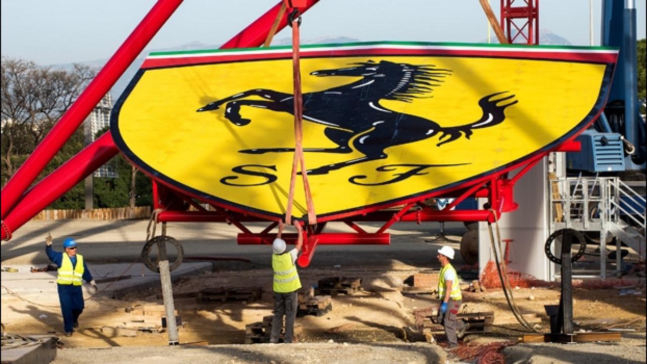 [Copertina] - Ferrari, il mega-scudetto adesso svetta nel Parco divertimenti [VIDEO]