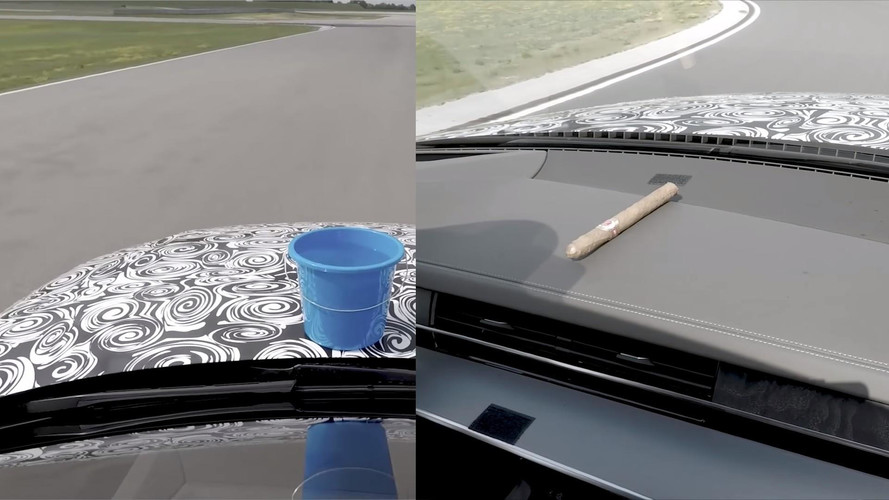 Audi Uses Cigar, Bucket Of Water To Demonstrate A8's Smooth Ride