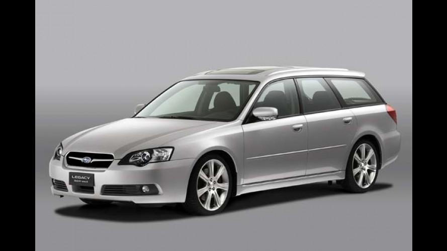 Subaru in Paris: Legacy und Forester mit richtig Dampf