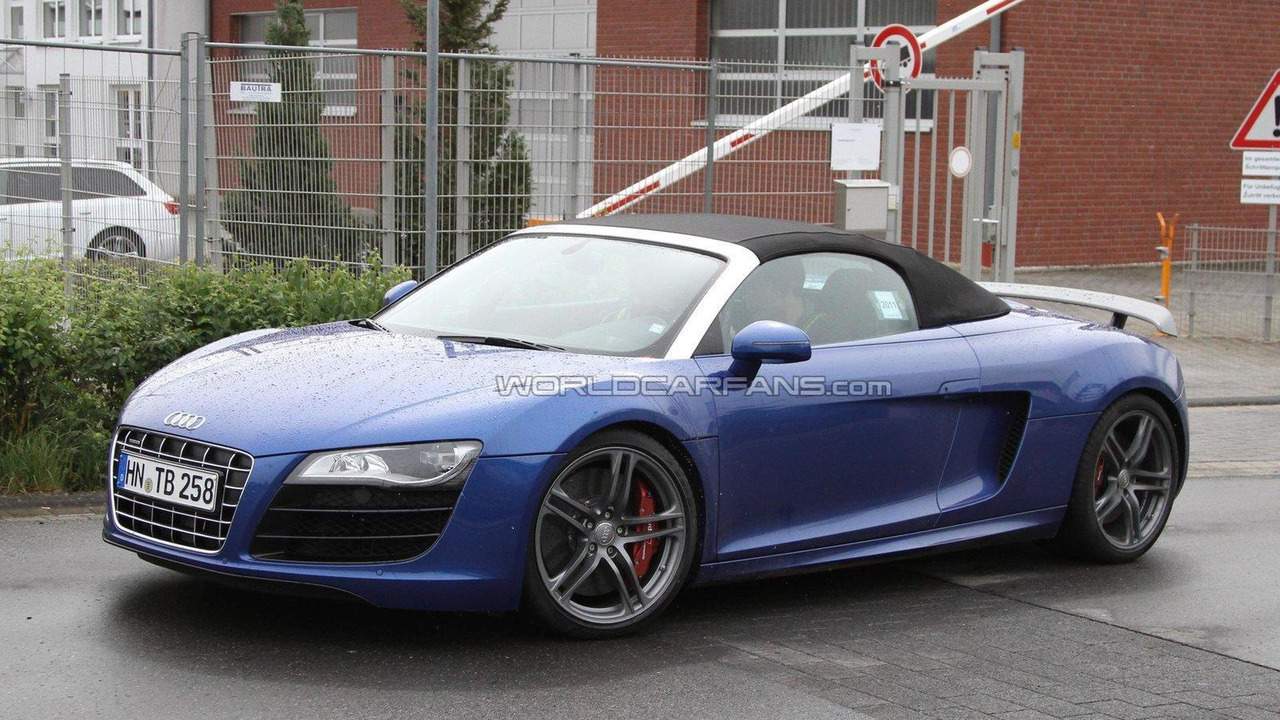 Audi R8 GT Spyder spied first time 17.05.2011