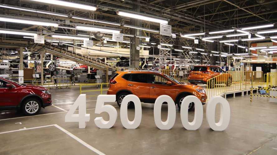 Российский завод Nissan отпраздновал выпуск 450-тысячного автомобиля