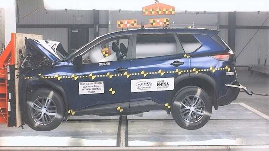 2021 Nissan Rogue Crash Test Results In Rare Two-Star Passenger Score